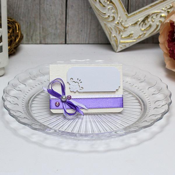 Банкетная карточка для гостей Таинственный сад (сиреневый)