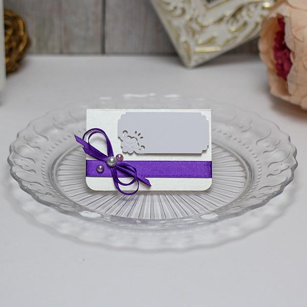 Банкетная карточка для гостей Таинственный сад (фиолетовый)