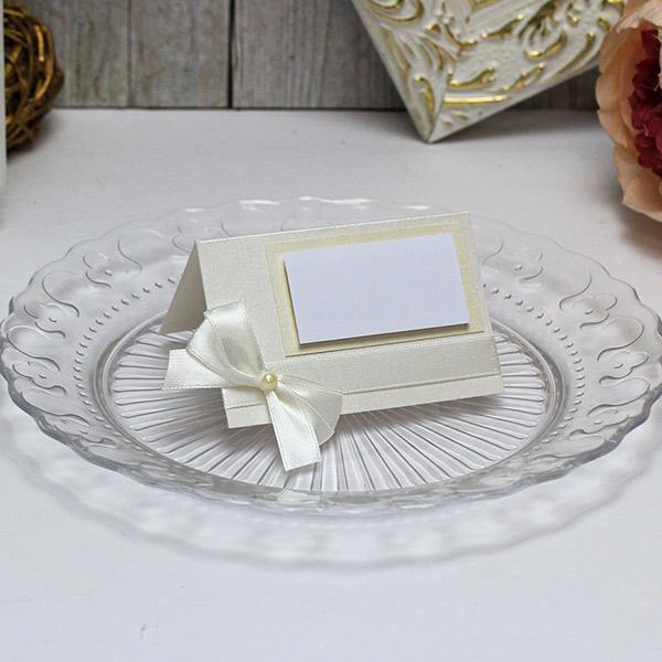 """Банкетная карточка для гостей """"Винтажный шик"""" (слоновая кость) (1 шт)"""