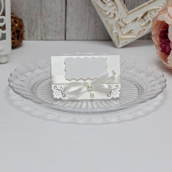 Банкетная карточка для гостей Нежные цветы (айвори)