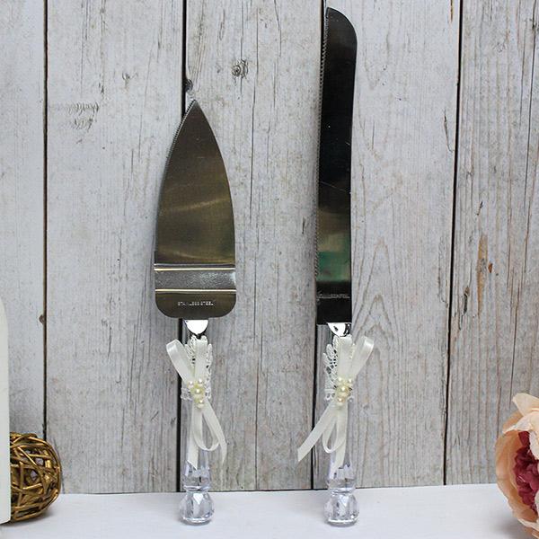 Сервировочный набор для свадебного торта Нежные цветы (айвори)
