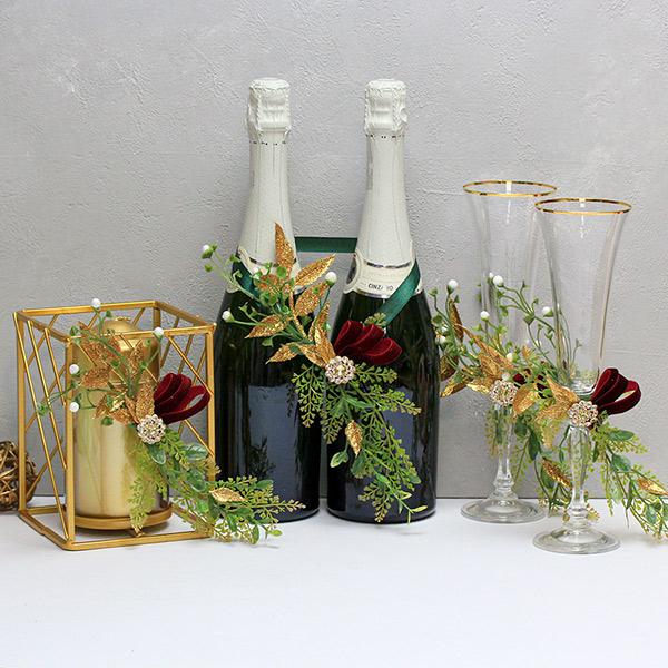 Набор свадебных аксессуаров в стиле Лофт (золотой)