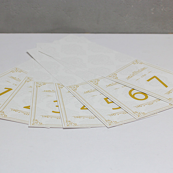 """Набор карточек с номером стола """"Винтажный шик""""(от 1 до 7)"""