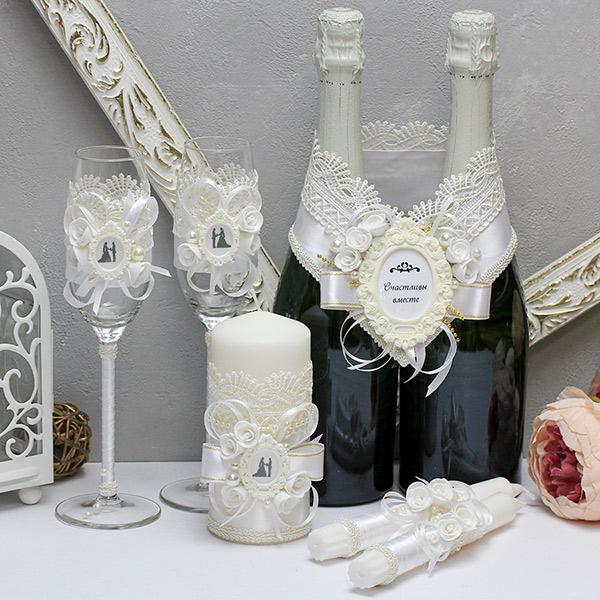 Комплект свадебных аксессуаров Летний вечер-new (белый)