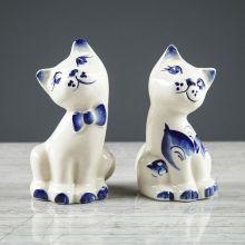 "Набор для специй ""Котята, гжель"", 2 шт."