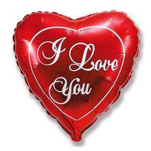 """Фольгированный шар сердце """"I Love You"""", 45 см"""