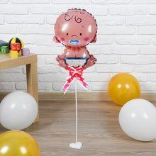 """Фольгированный шар """"Малыш"""", 30 см (палочка+подставка)"""