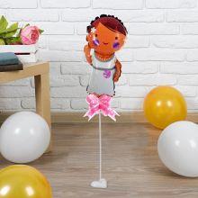 """Фольгированный шар """"Невеста"""", 30 см (палочка+подставка)"""