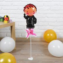 """Фольгированный шар """"Жених"""", 30 см (палочка+подставка)"""
