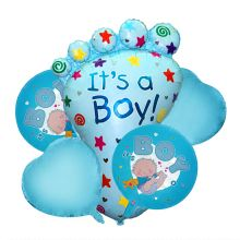 """Набор шаров на рождение малыша """"Букет"""", 5 шт.(фольга, латекс)"""