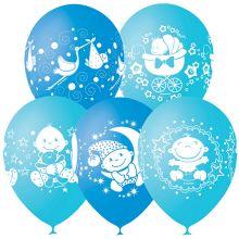 """Набор воздушных шаров """"Рождение малыша-Счастье"""", 10 шт."""