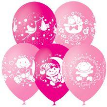 """Набор воздушных шаров """"Рождение малышки-Счастье"""", 10 шт."""