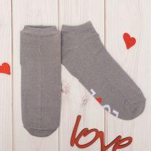 """Сувенирные носки """"Love"""",  р.36-40, серый"""