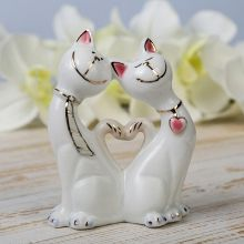 "Сувенир ""Сердечные котики"", керамика"