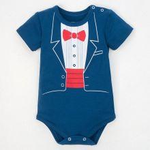 """Боди для малыша на первый годик """"Джентльмен"""", рост 86-92 см, (р-р 28), синий"""