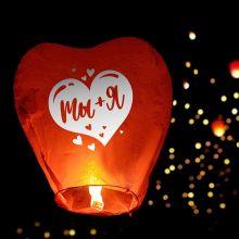 """Небесный фонарик """"Ты+Я"""", сердце"""
