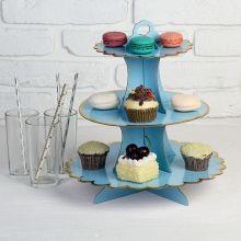 Подставка для сладостей или закусок (голубая)