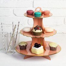 Подставка для сладостей или закусок (розовая)