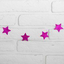 """Гирлянда """"Звёзды"""", 2 м, цвет розовый"""