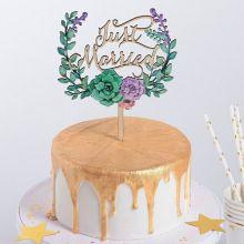 "Топпер в торт ""Just Married"""