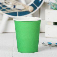 Набор бумажных стаканчиков (6 шт, зеленый)