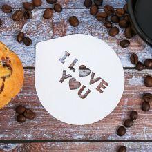 """Трафарет-сувенир """"I love You"""", 9.5 × 8.5 см"""