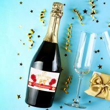 Наклейка на бутылку «Свадебное шампанское» розы, 12 × 8 см