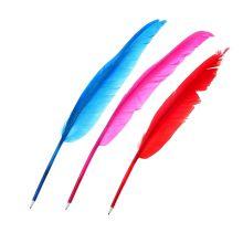 Ручка-перо шариковая, цвет микс