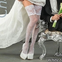 Свадебные чулки Charmante WHITE TEA (L/XL, белый, 40 den)