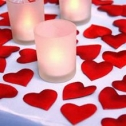 Сердечки  для обсыпания молодоженов (красные)