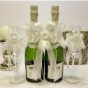 Комплект украшений на бокалы и шампанское