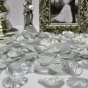 Искусственные лепестки роз на свадьбу (серебро, 100 шт.)