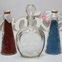 Свадебный набор для песочной церемонии (крас/гол)