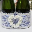 Комплект украшений на бутылки шампанского