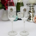 Бокалы для молодоженов свадебные