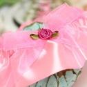 Свадебная подвязка для невесты на ногу