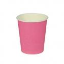 Набор однотонных бумажных стаканчиков (10 шт, розовые)