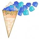 Кулечек + лепестки (цвет: синий и голубой)