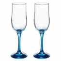 Свадебные для шампанского с синей ножкой (2 шт)