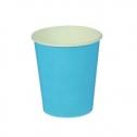 Набор однотонных бумажных стаканчиков (10 шт, голубые)