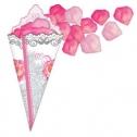 Кулечек + лепестки (цвет: розовый)