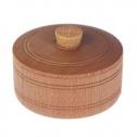 Деревянная солонка для каравая с крышкой