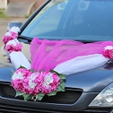 Украшение на свадебную машину «Виолла» (фуксия)