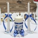 Набор свадебных свечей с подсвечниками