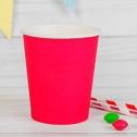 Набор однотонных бумажных стаканчиков (10 шт, фуксия)