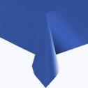 Однотонная скатерть для праздника (синяя, 137х183 см)