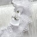 Свадебная подвязка для невесты из плетеного кружева (белая)