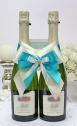 Декор на свадебное шампанское