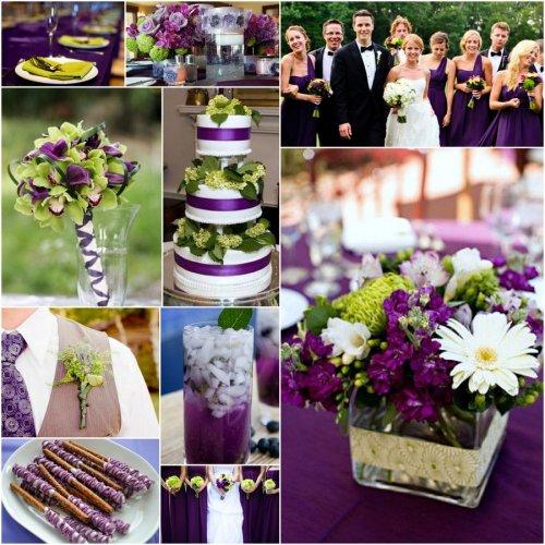 Фиолетовый с зеленым на свадьбу