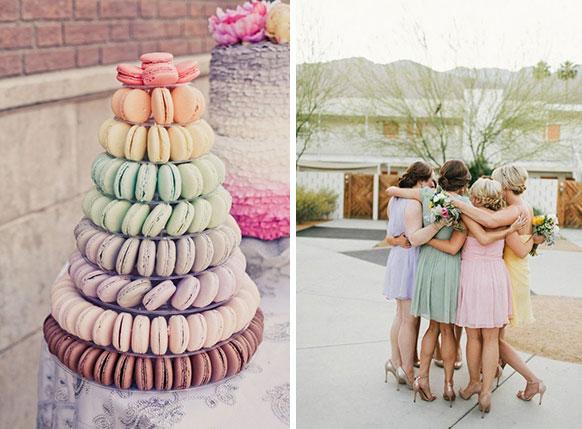 Пастельные свадебные  фото